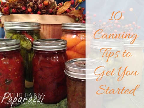 10 Canning Tips